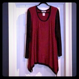 Red and Black tunic XXL